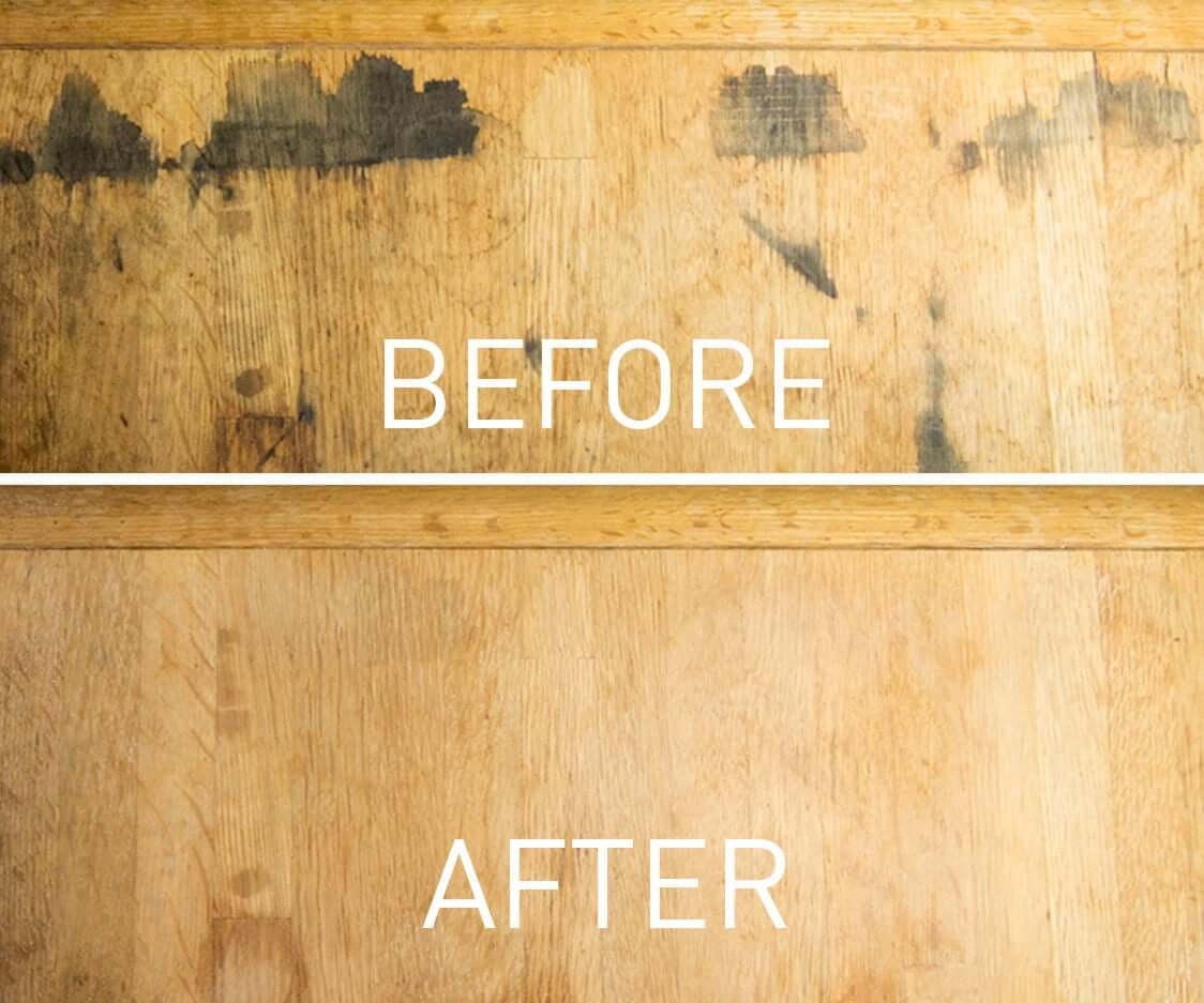 remove wood stains